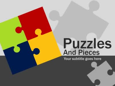 Puzzles And Pieces - A PowerPoint Template from PresenterMedia