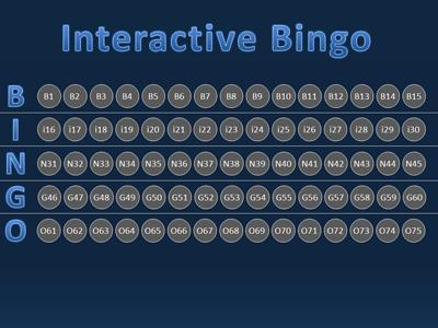 Bingo Interactive - A PowerPoint Template from PresenterMedia - interactive powerpoint template