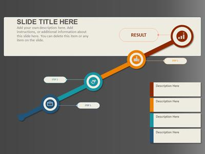 Process Infographics - A PowerPoint Template from PresenterMedia