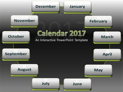 2018 Interactive Calendar - A PowerPoint Template from - powerpoint calendar template