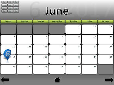 2017 Interactive Calendar - A PowerPoint Template from