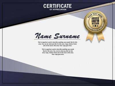 Loaded Certificate - A PowerPoint Template from PresenterMedia