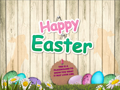 Easter Egg Boards - A PowerPoint Template from PresenterMedia