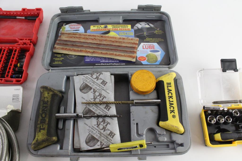 Black Jack Tire Repair Kit Milwaukee Drill Bit Set And