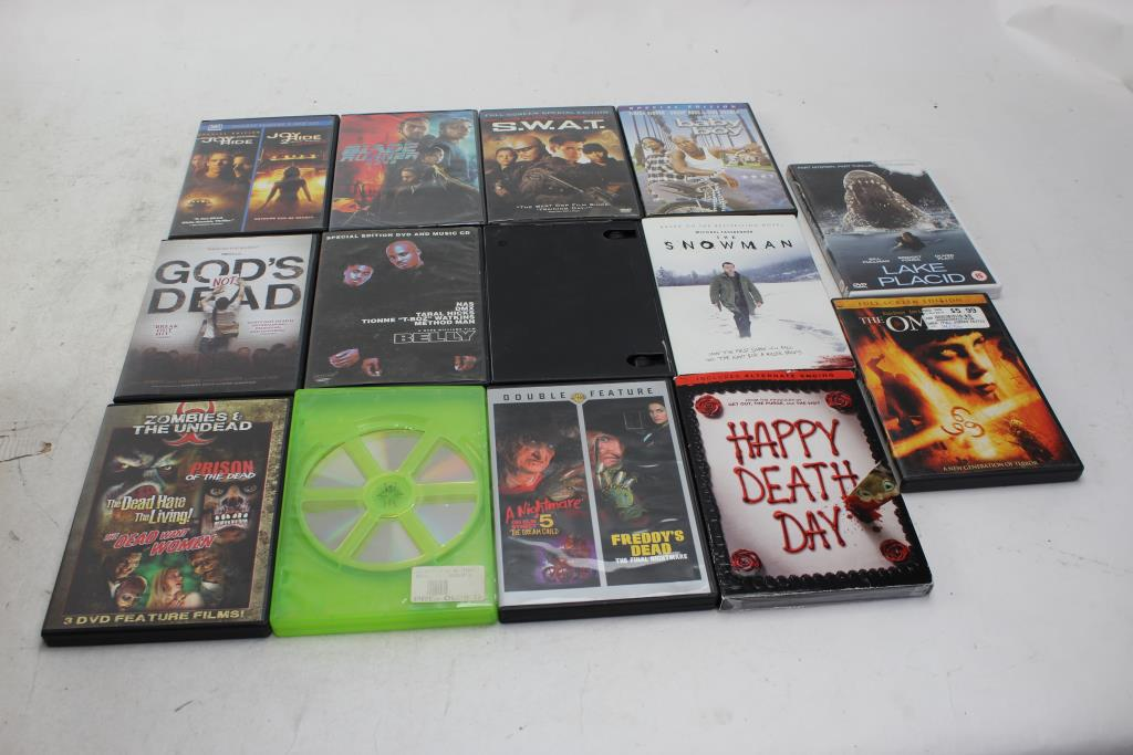 Dvd Movies SWAT, Belly, Baby Boy And More 10+ Items Property Room