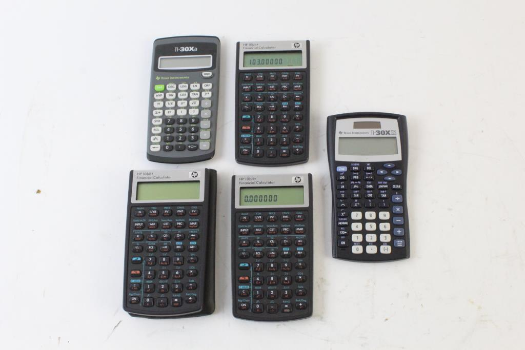HP Financial Calculator And More, 8 Pieces Property Room - financial calculator