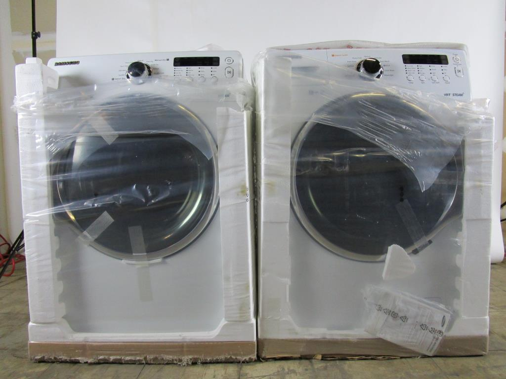 New Washer And Dryer Samsung Vrt Steam Front Load Washer And Dryer Set New In Box