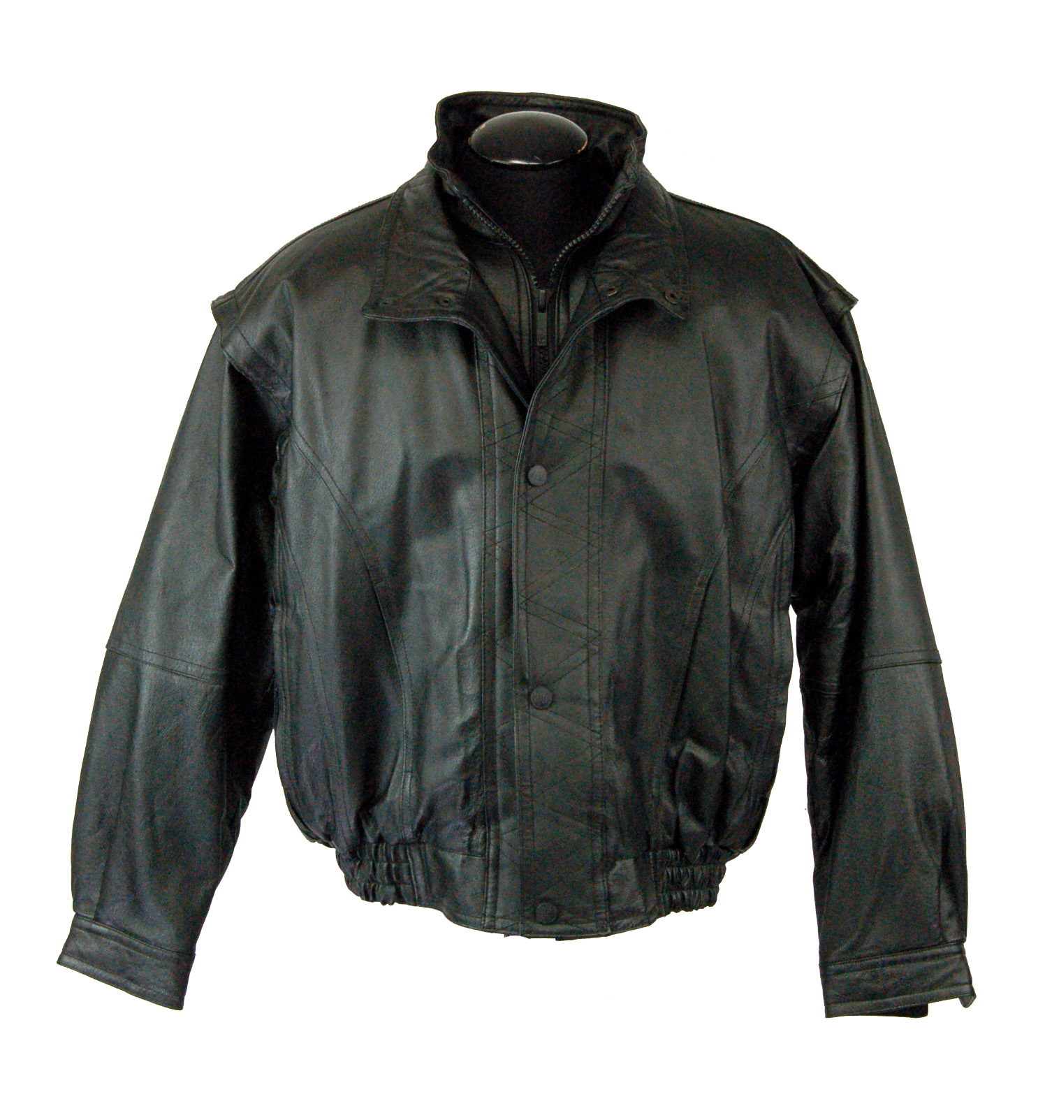 Leather Cuir Men S Pelle Cuir Leather Jacket Size M Property Room