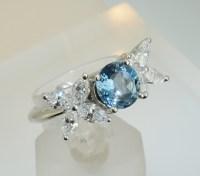 Tiffany & Co. Platinum Victoria Diamond and Aquamarine ...