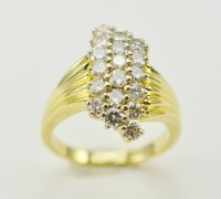 14K Yellow Gold 5.84 Grams 1.00 Carat t.w. Diamond Dinner ...