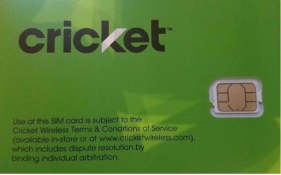 Brand New Lot of 5 Cricket Wireless Replacement Nano Sim Cards 4G