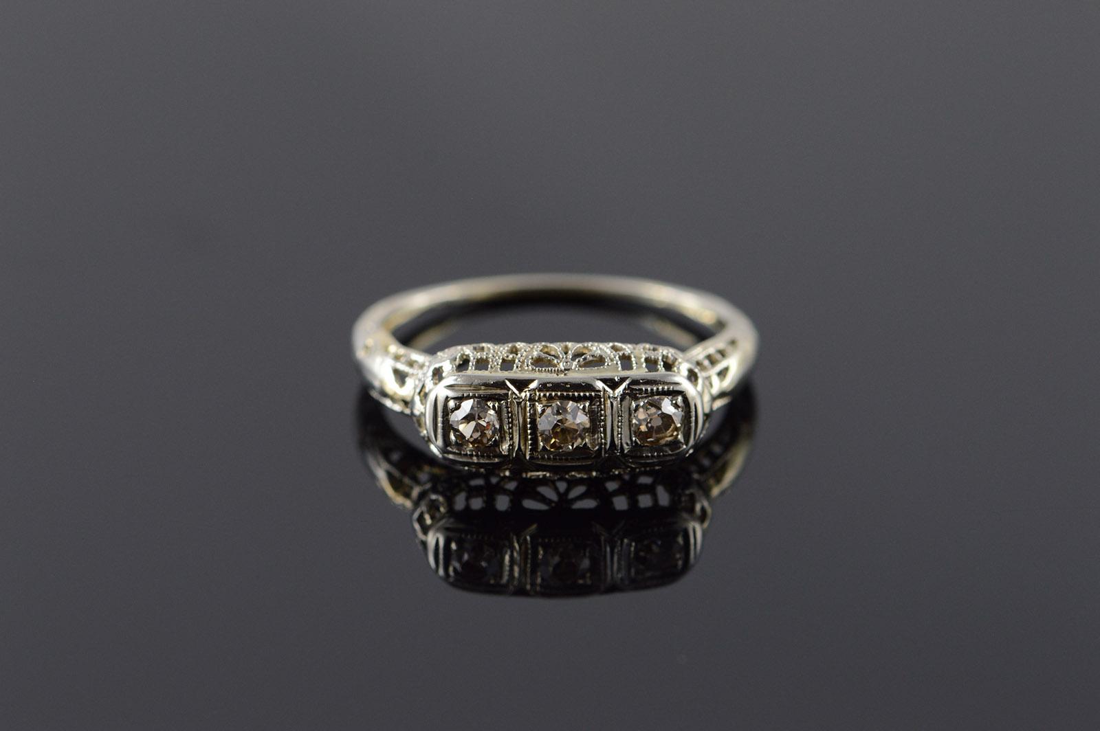show me your art decofiligree engagement ringswedding bands filigree wedding band FullSizeRender image2