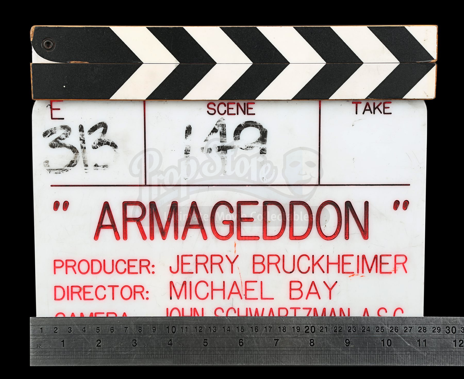 Store Banne Ultima Armageddon 1998 Production Used Clapperboard And Cast