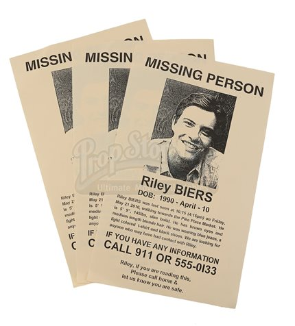 Riley Biers Missing Person Flyers - Current price $200 - missing person flyer