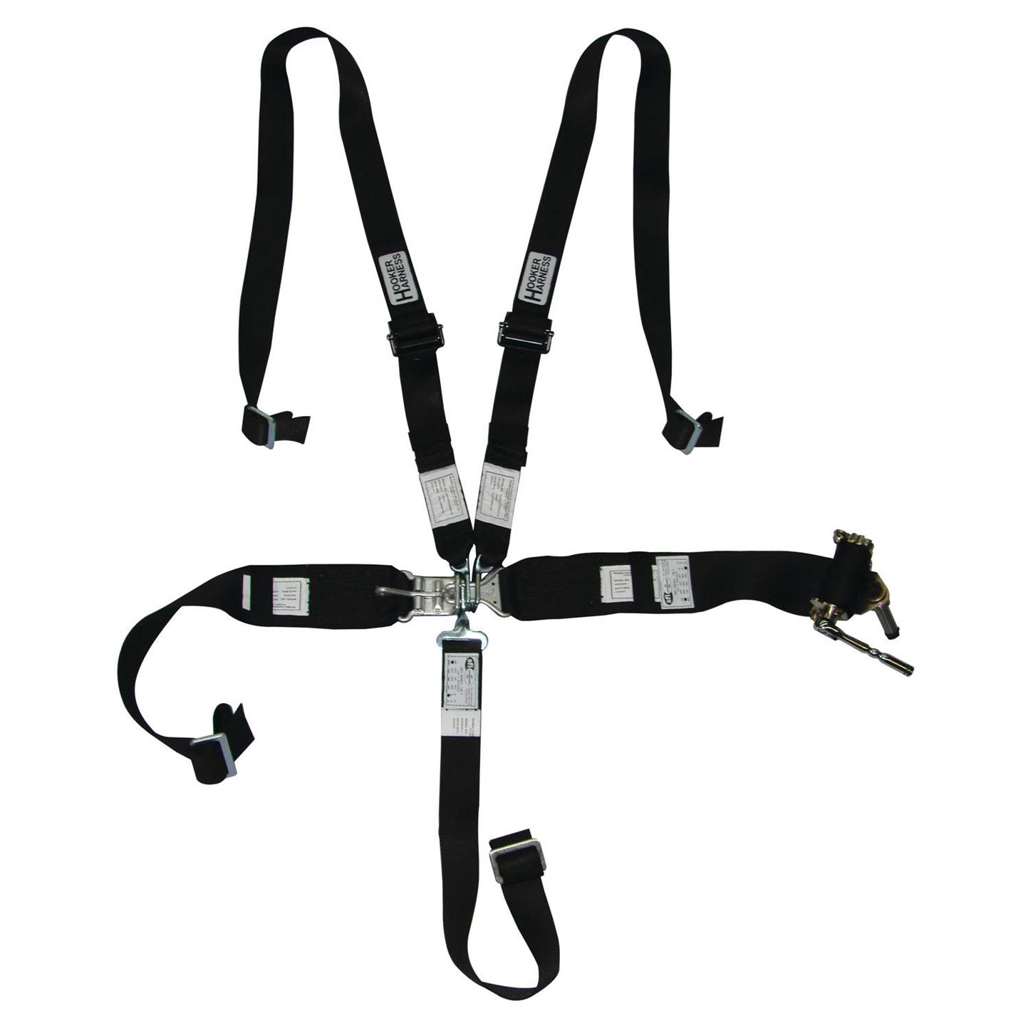 Safety Belt Hooker Harness 5 Point Latch And Link Safety Belt 2 Inch Shoulder Set