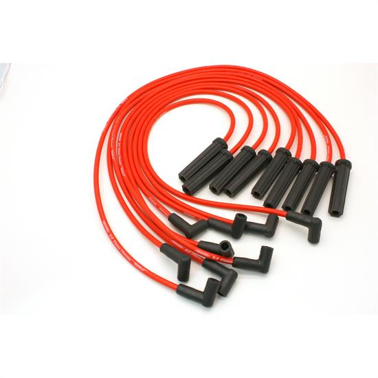 PerTronix 808418 Flame-Thrower Spark Plug Wires, 8 Cyl, GM HEI, Red