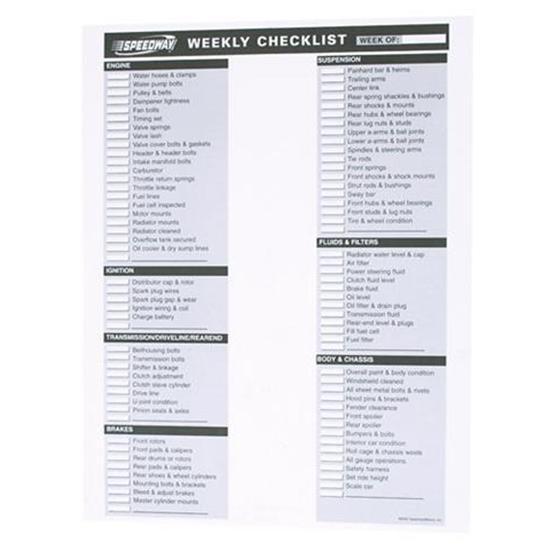 Weekly Checklist - weekly checklist