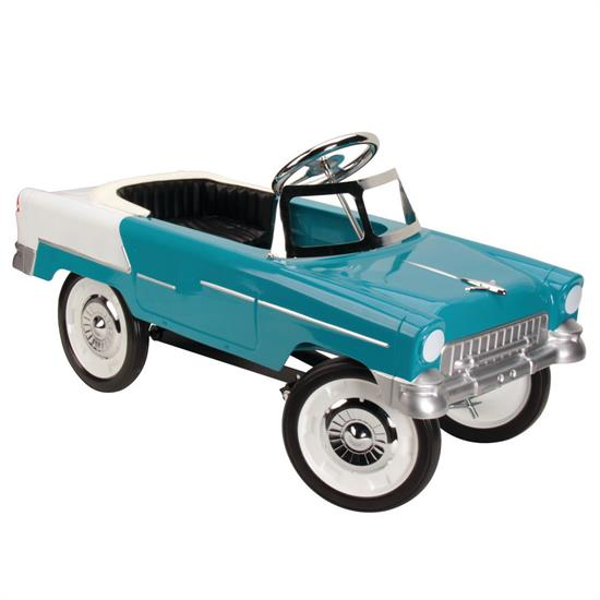 1955 Blue  White Chevy Pedal Car