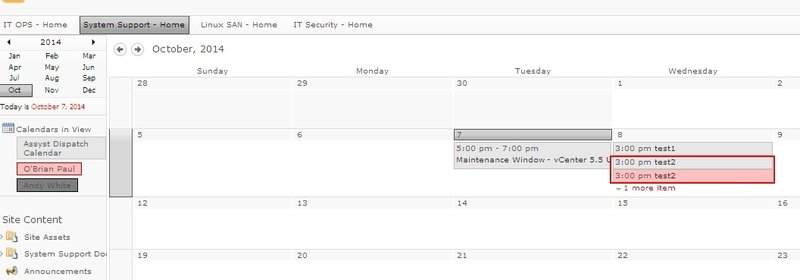 Sharepoint Color code calendar - Duplicate events created