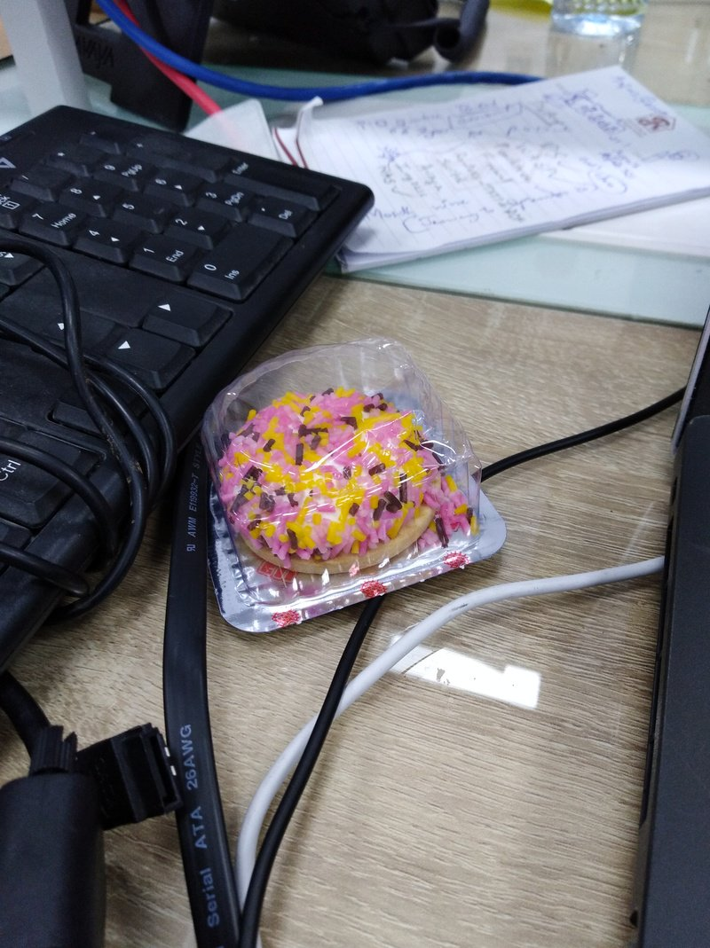 Keyboard Kuchen Happy Users Make You Fat Water Cooler