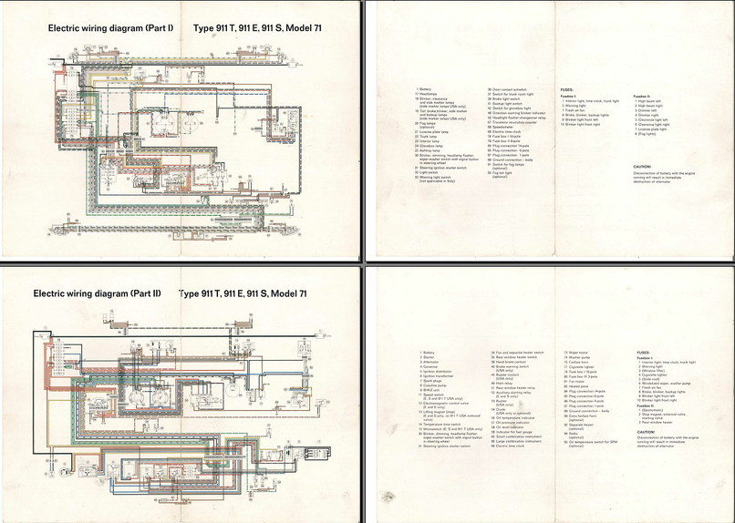 Electric Wiring Diagram 911 (1971) - Elektrische installatie