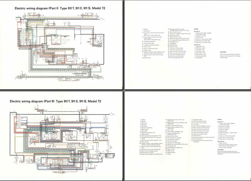 Electric Wiring Diagram 911 (1972) - Elektrische installatie