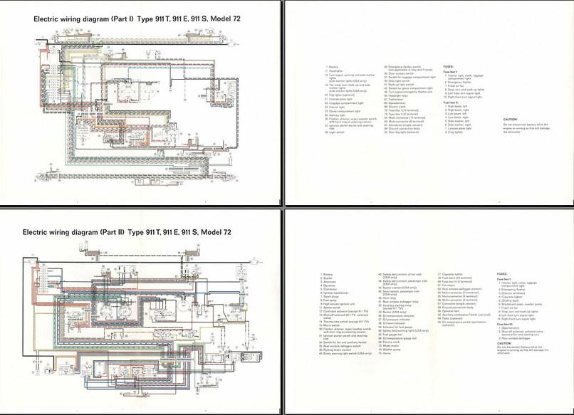 wiring diagram 1972 porsche 911