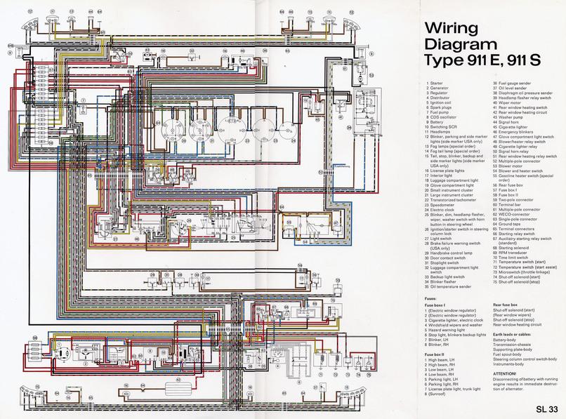 Elektrisch schema 911 \u002769 (US) - Elektrische installatie - Techniek