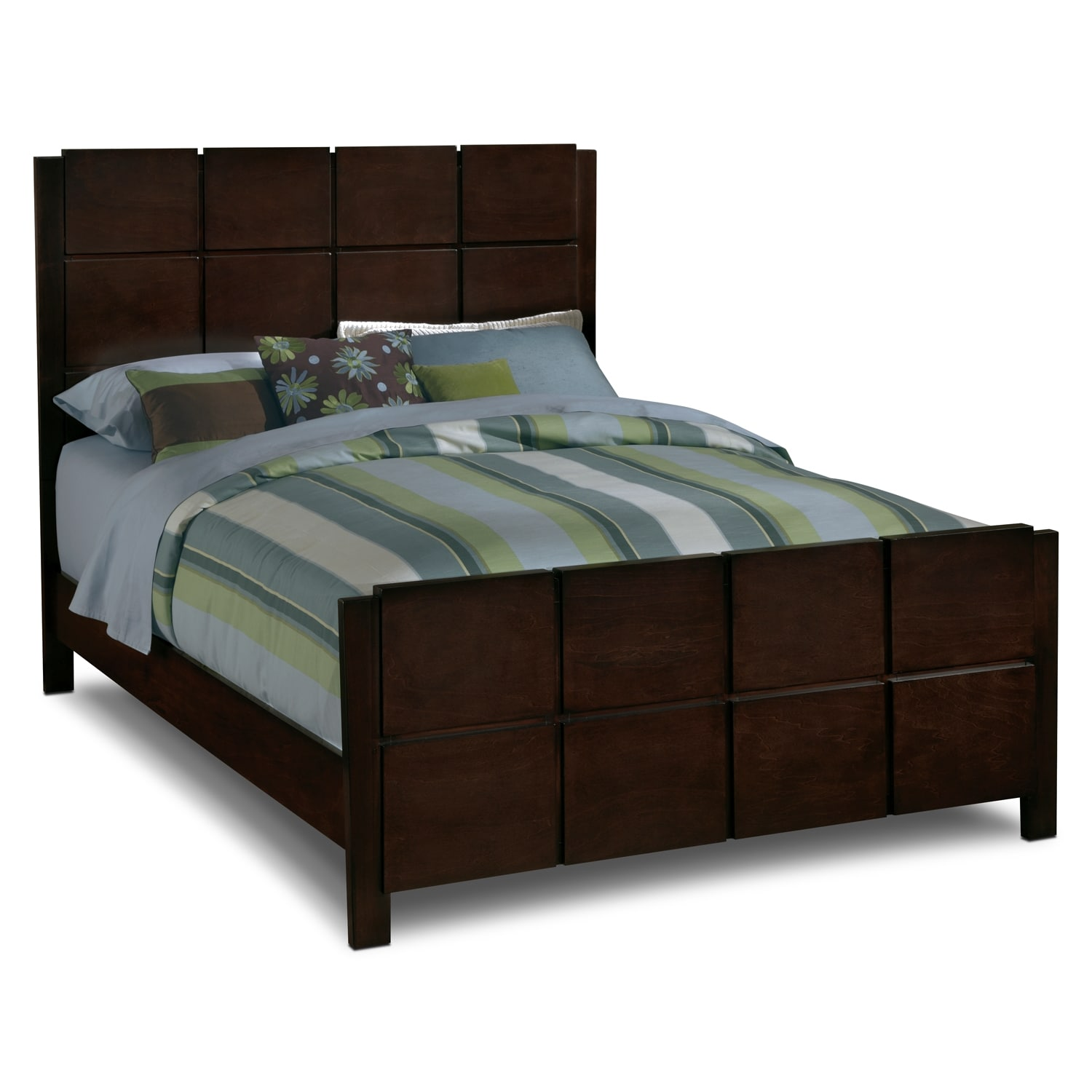 Cheap Wooden Bed Frames Mosaic Bed Dark Brown