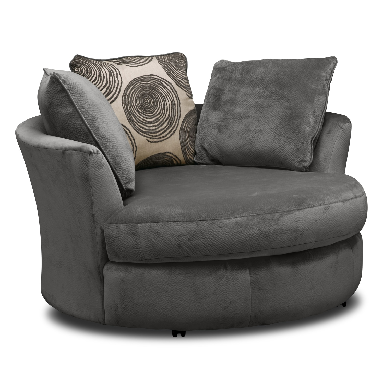 Grey Half Couch Cordelle Swivel Chair Gray Value City Furniture