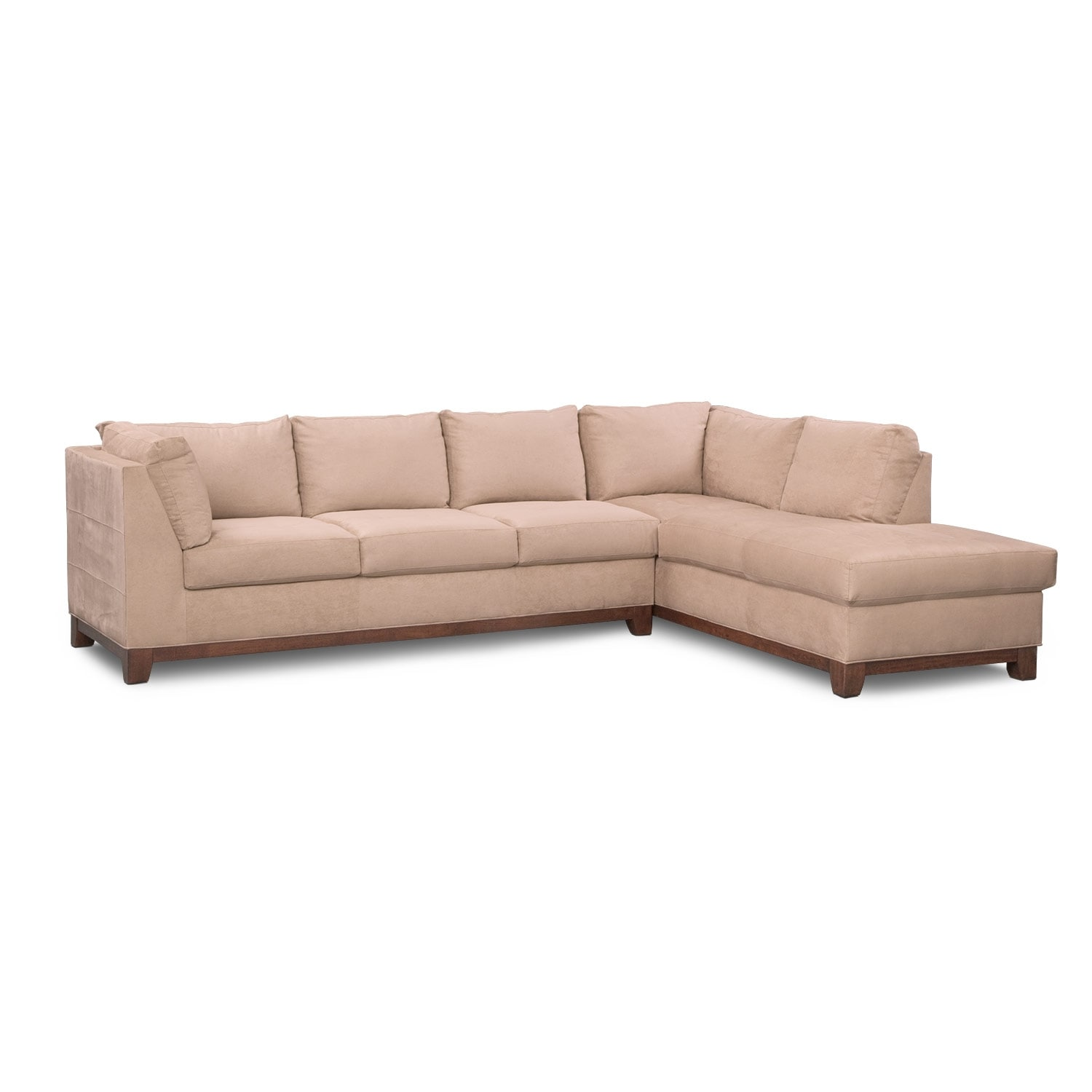 Furniture Chaise Soho 2 Piece Sectional With Chaise