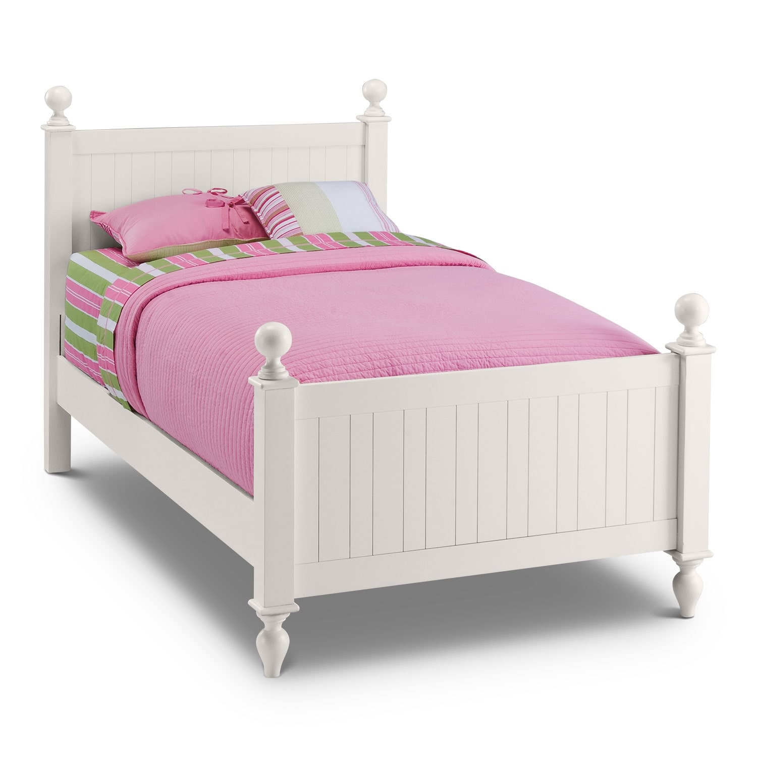 White Double Bed With Mattress Colorworks Twin Bed White Value City Furniture And