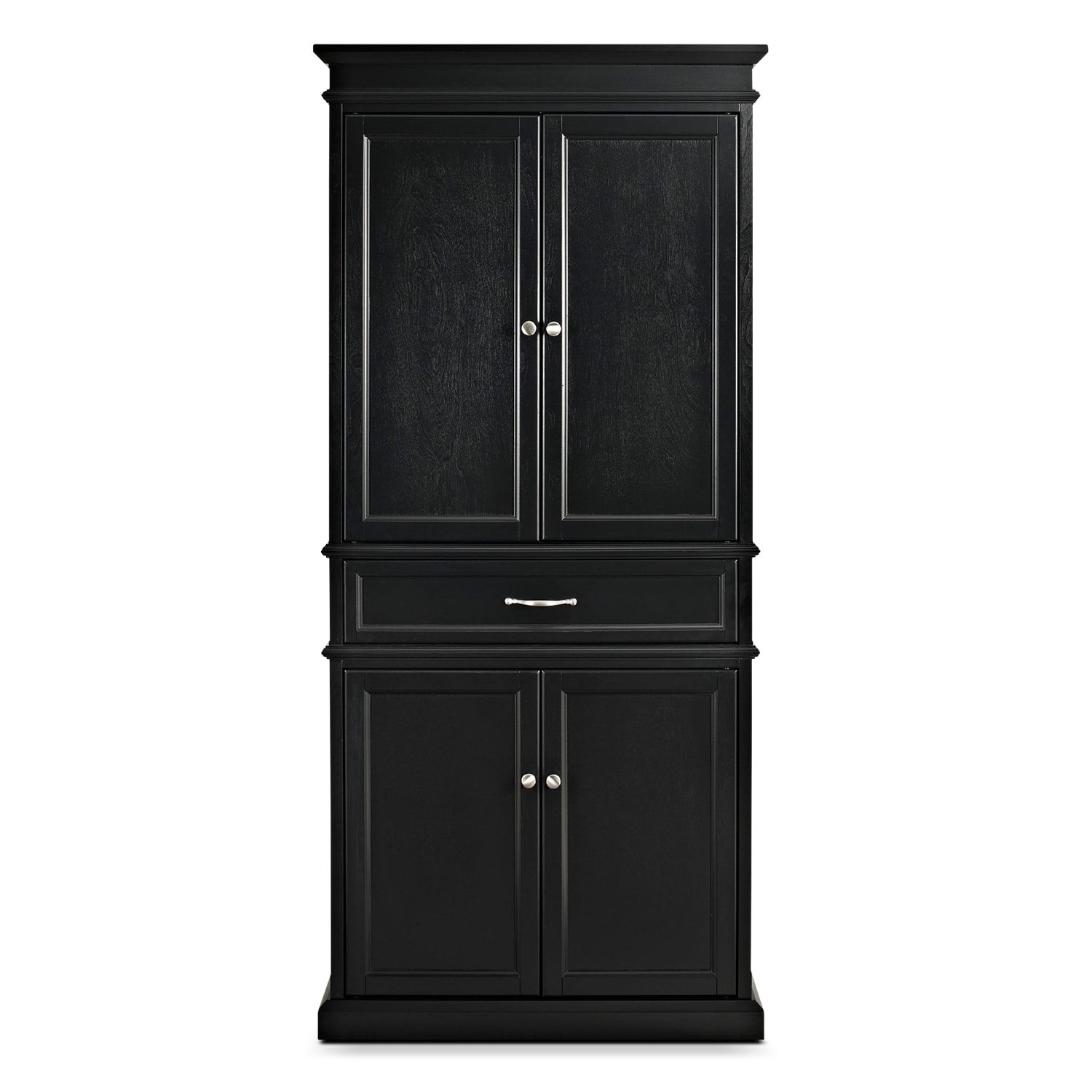 Black Kitchen Cabinets Resale Value Midway Black Pantry Value City Furniture