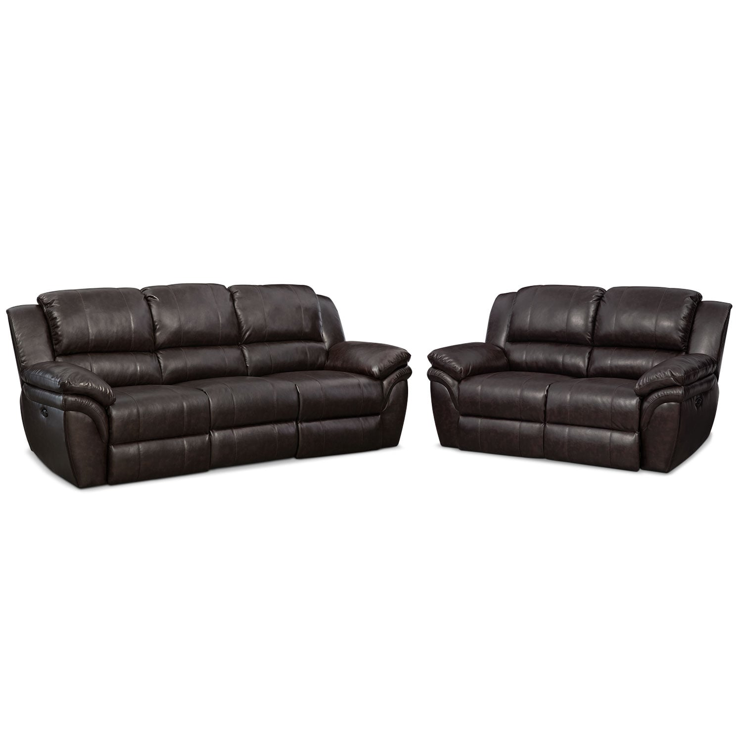 Brown Sofa And Loveseat Sets Aldo Power Reclining Sofa And Loveseat Set