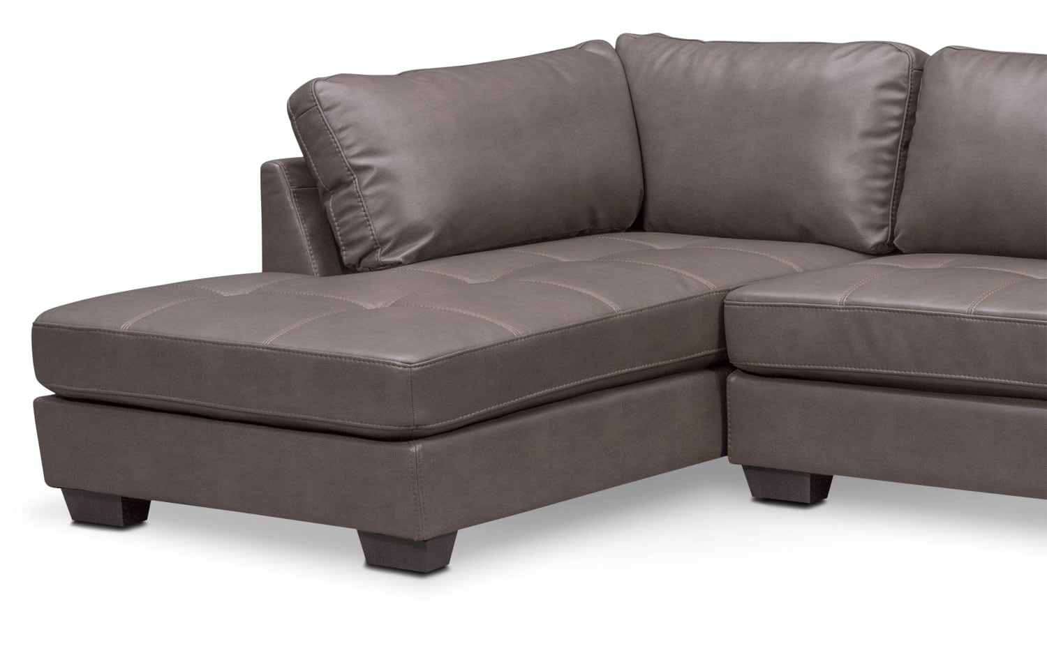 Chaise Cocktail Santana 2 Piece Sectional With Chaise And Cocktail Ottoman Set