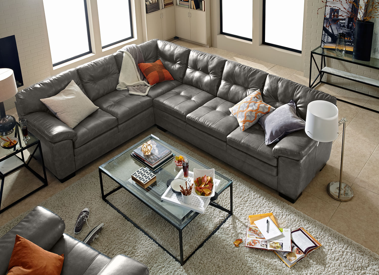 Second Hand Furniture Sydney Pick Up Magnum 2 Piece Sectional With Right Facing Sofa