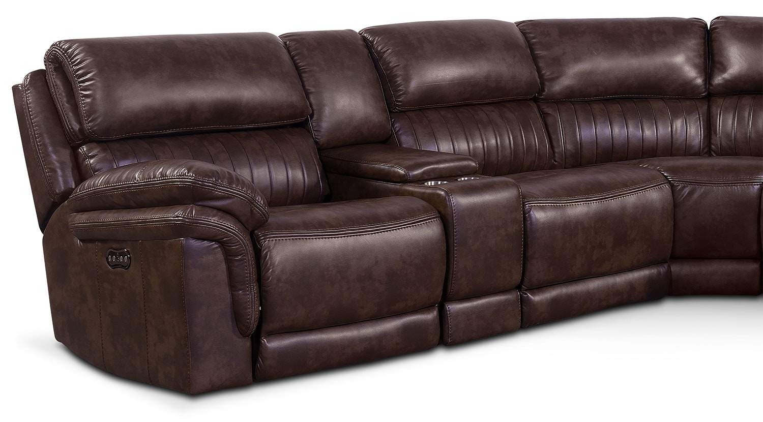 Sofas In Value City Furniture Monterey 6-piece Power Reclining Sectional With 3
