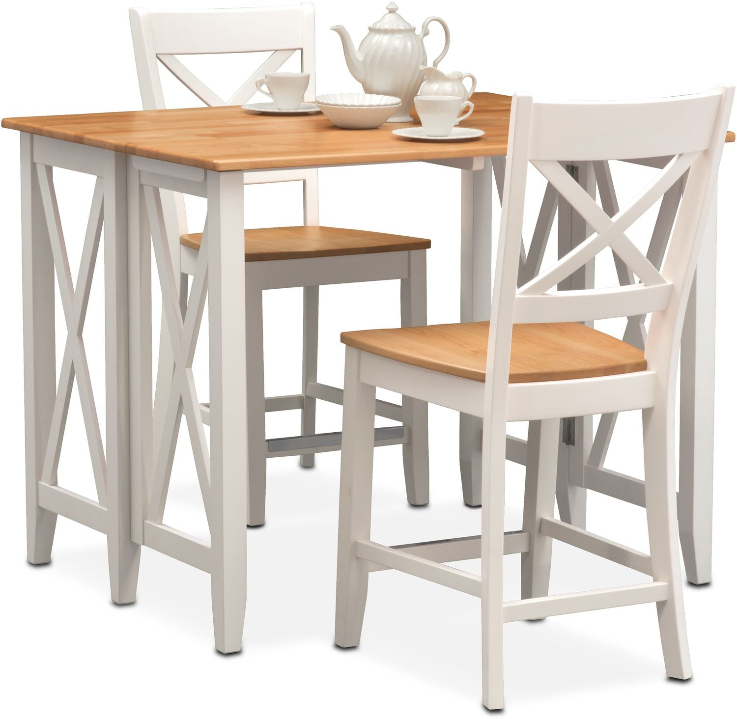 Breakfast Chairs Nantucket Breakfast Bar And 2 Counter Height Side Chairs