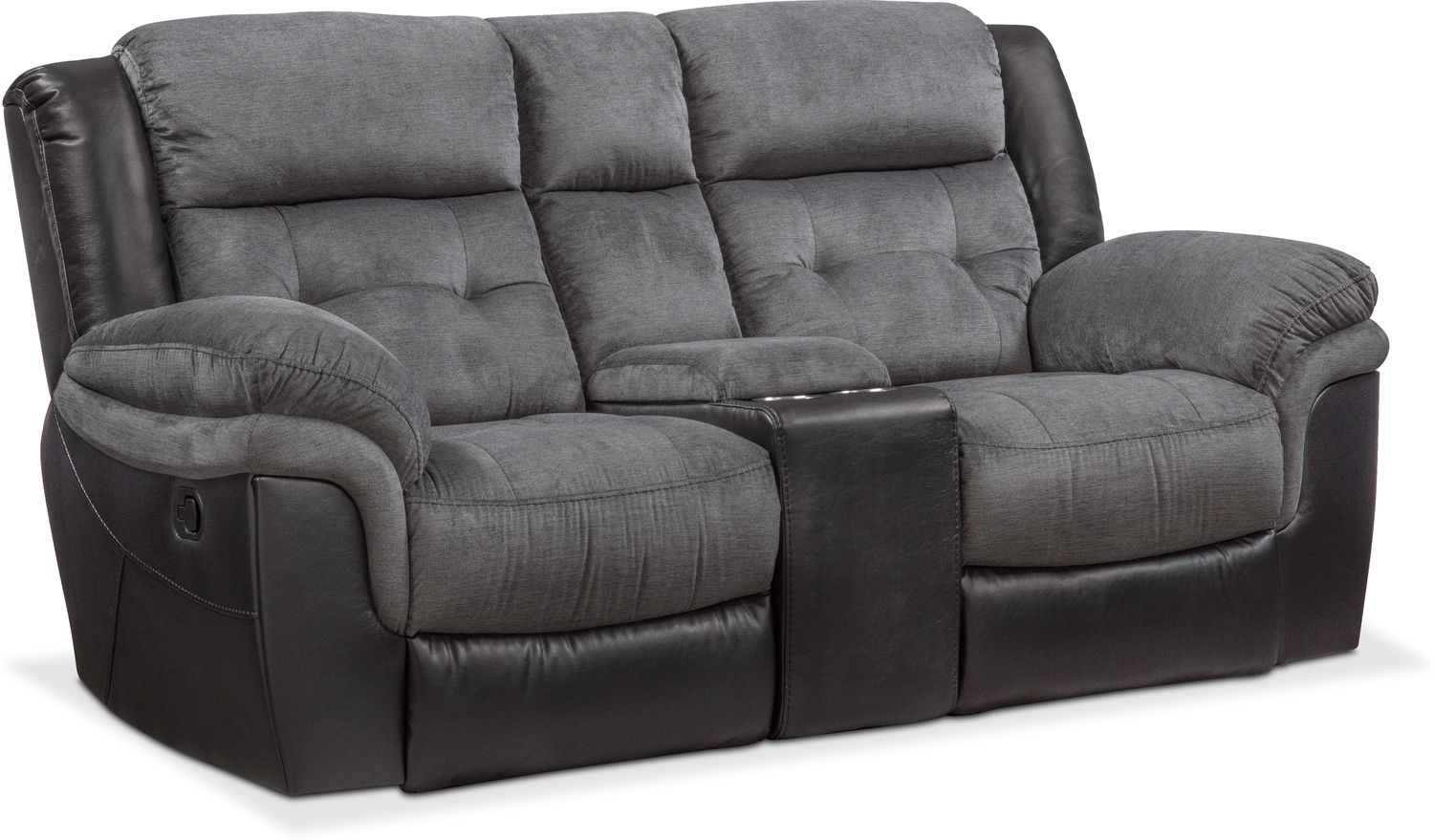 Sofas For Sale Pay Monthly Tacoma Manual Reclining Sofa And Loveseat Set - Black