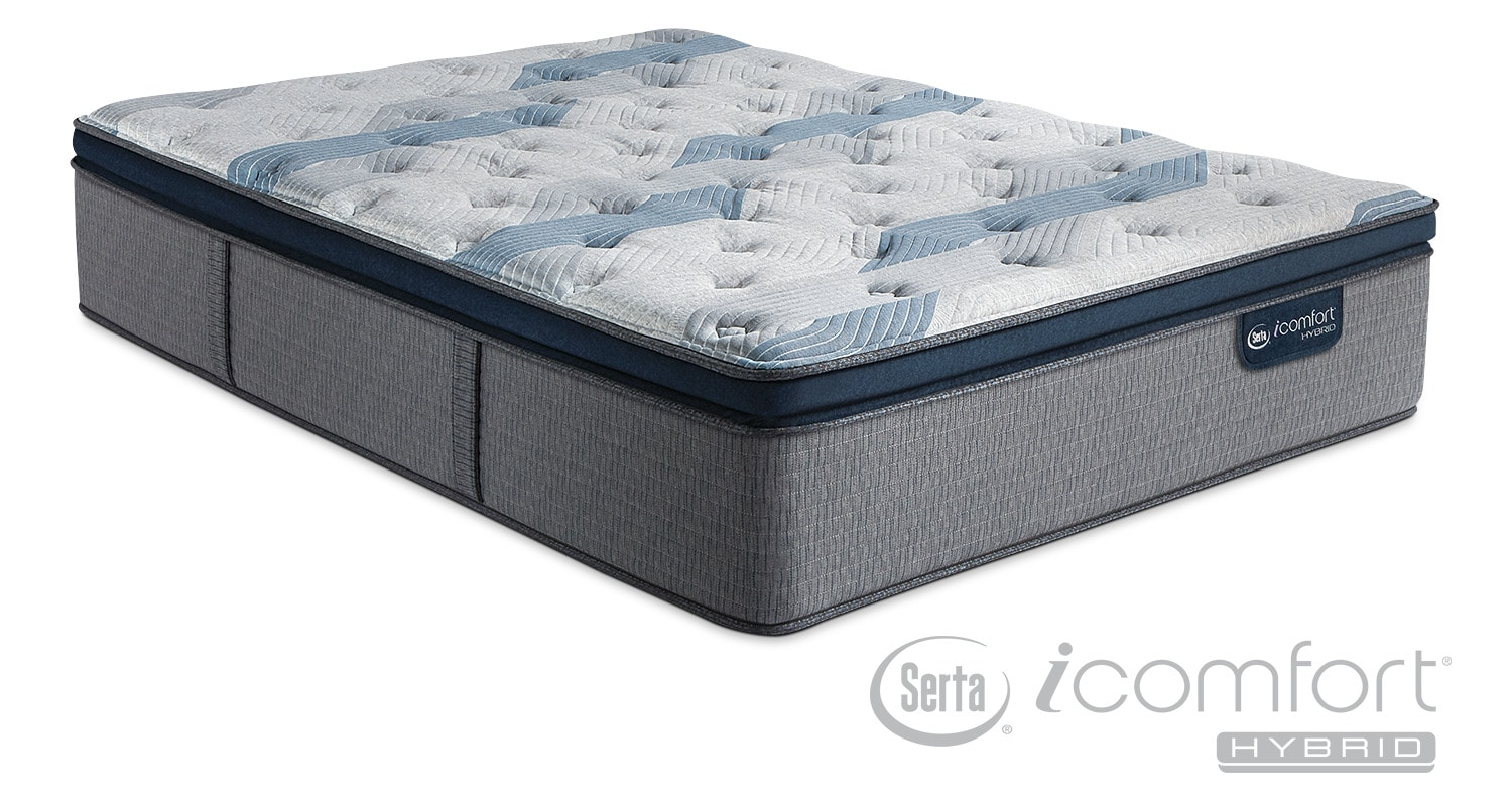 Pillow Top King Mattress Blue Fusion 300 Plush Pillowtop Mattress