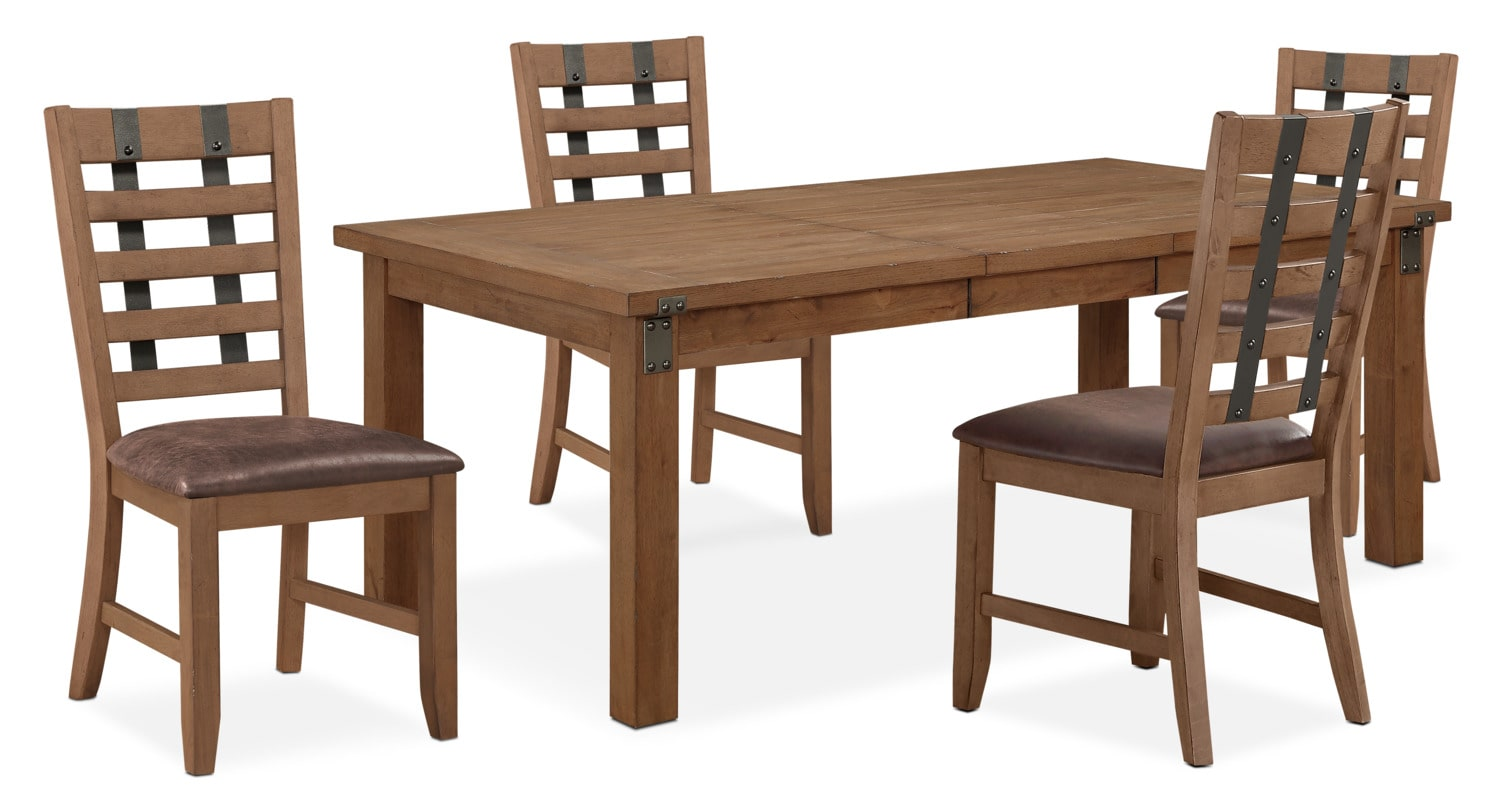 Hampton Dining Table And 4 Side Chairs Sandstone Value