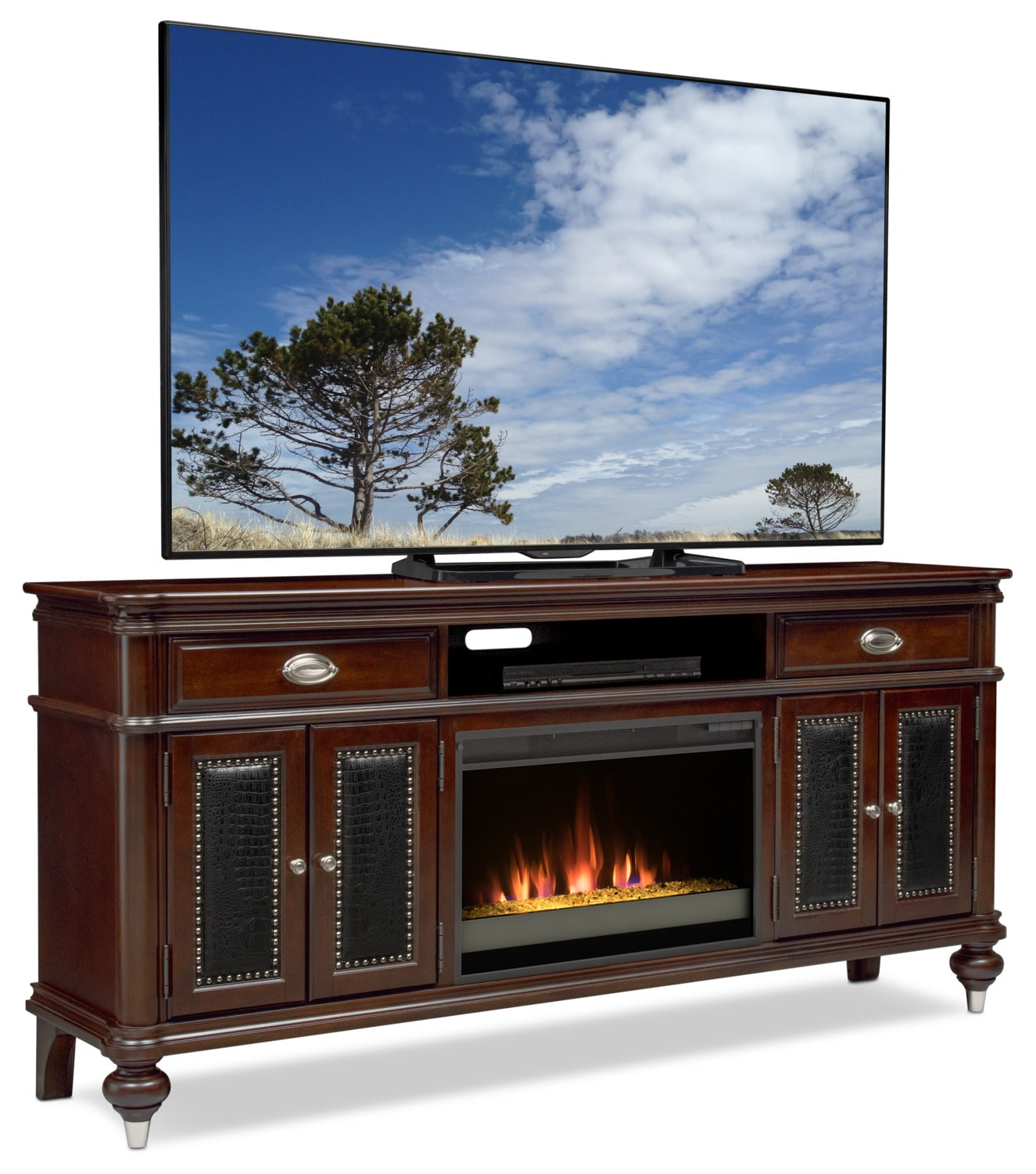 Value City Fireplaces Esquire Fireplace Tv Stand