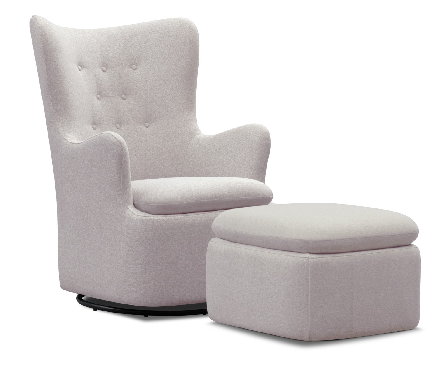 Chair Ottoman Addie Swivel Chair And Ottoman Set Gray