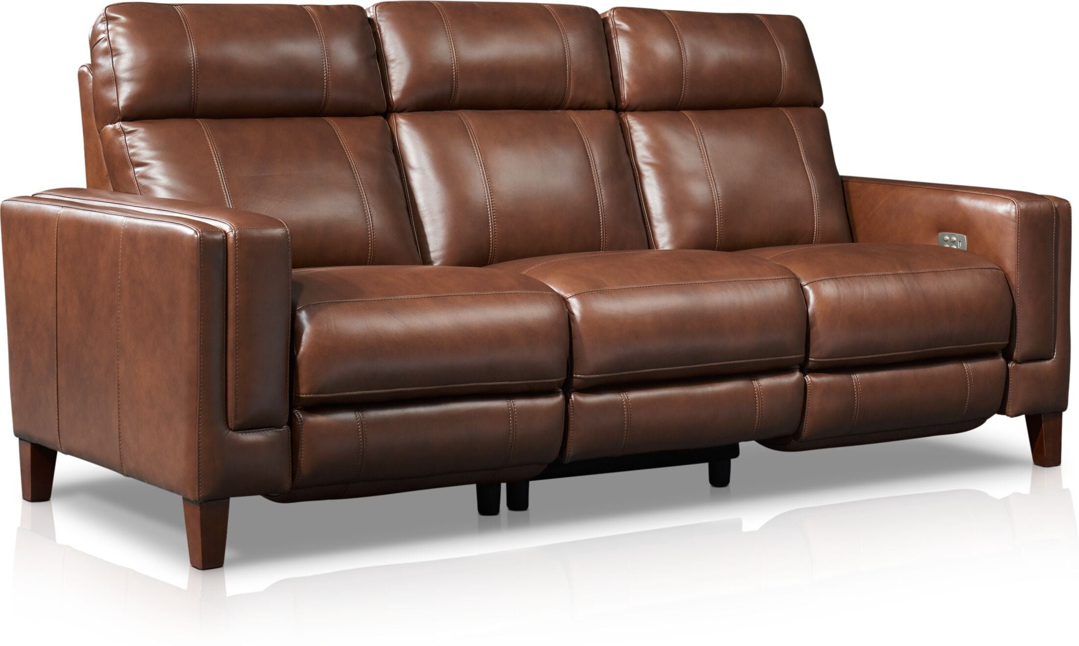 Oliver Dual Power Reclining Sofa Value City Furniture