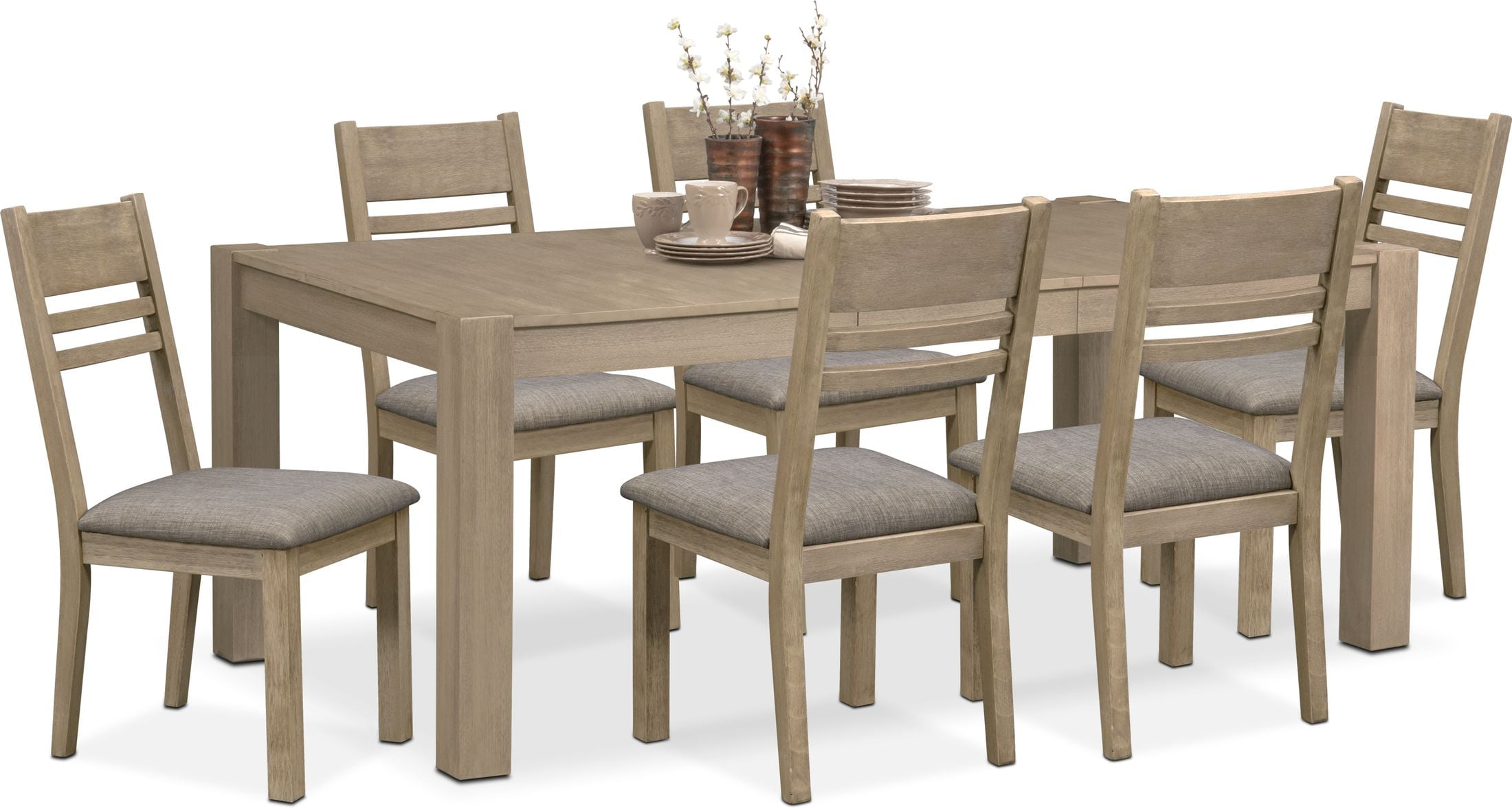 Tribeca Dining Table And 6 Dining Chairs Value City Furniture