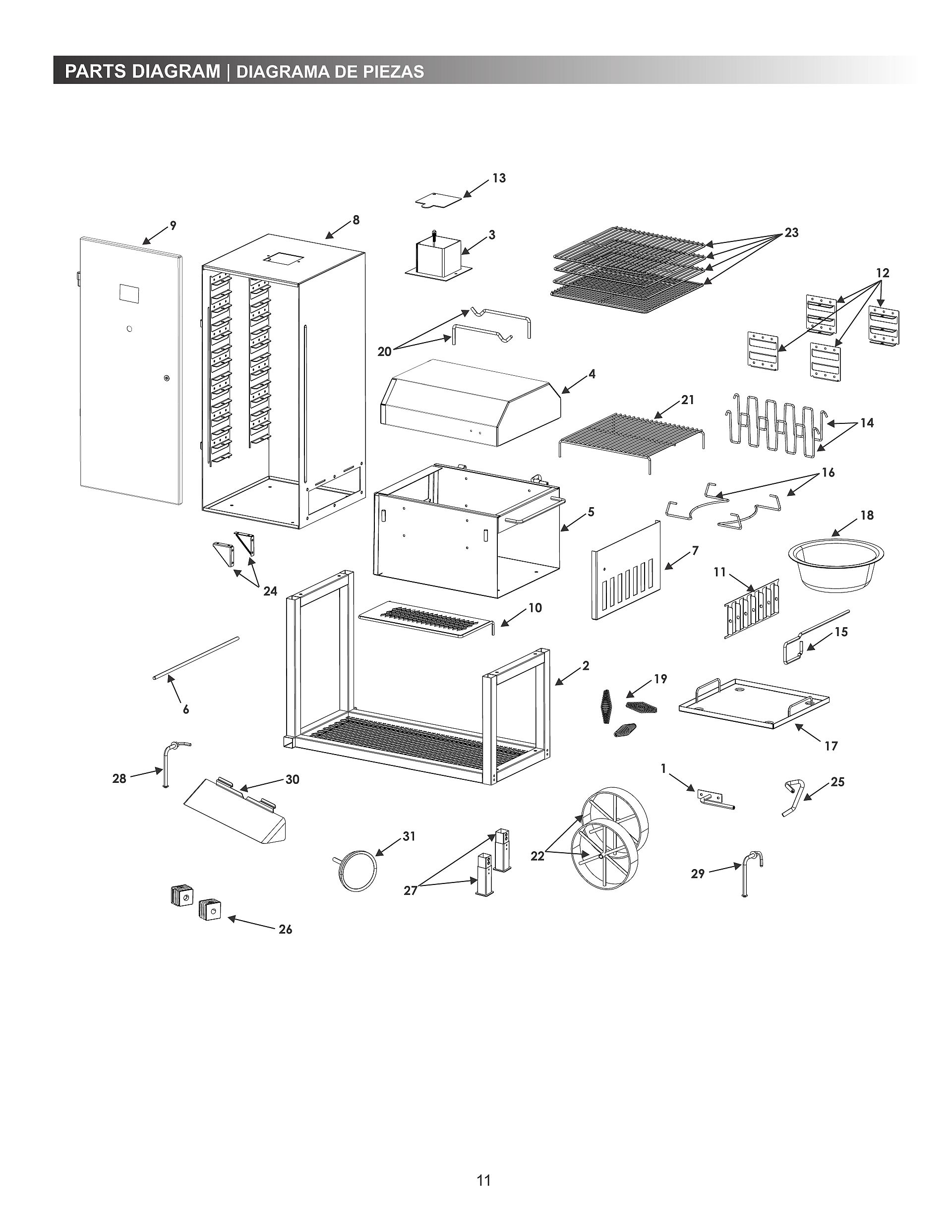 bbq 055 smoker wiring diagram