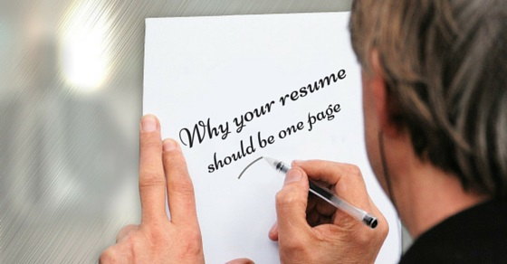 Why Your Resume Should Be One Page - 30 Good Reasons - WiseStep