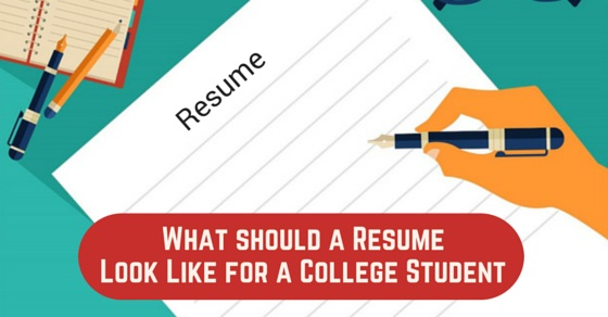 What Should a Resume look like for a College Student? - WiseStep