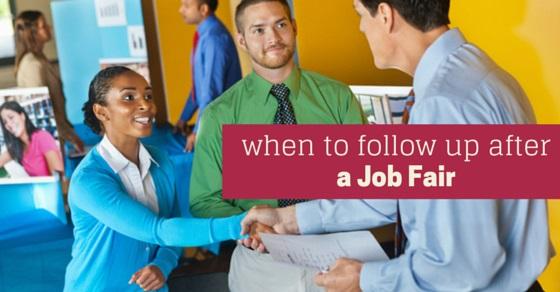 When to Follow Up after Job Fair? - WiseStep