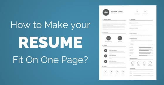 How to Make your Resume fit on one Page 25 Best Ways - WiseStep